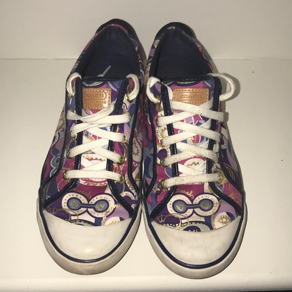 329c594b389 Coach Barrett Signature Graffiti Sneakers